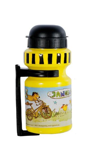 Bike Fashion Janosch Tigerente Lapset juomapullo 300 ml sis. telineen , keltainen